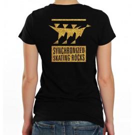 """T-Shirt Synchroneiskunstlaufen """"Synchronized Skating Rocks"""""""