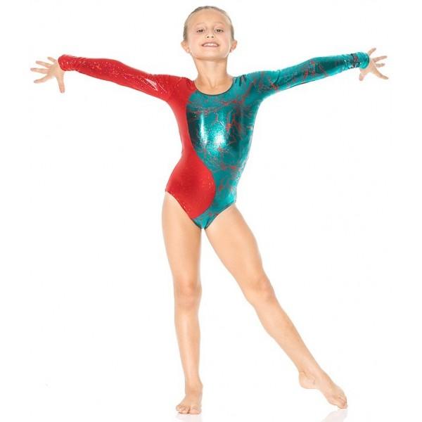 Mondor Gymnastikanzug Lightning 17830, langarm - Ice Expression