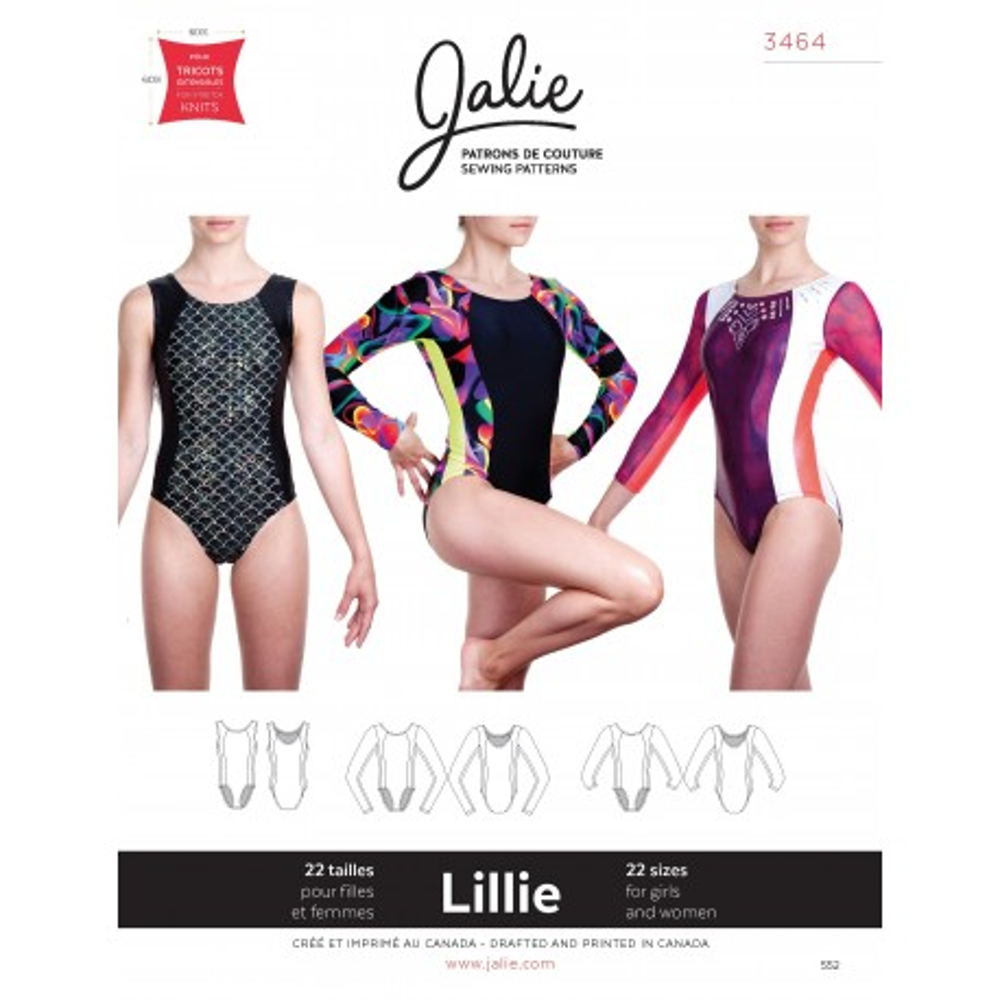 Jalie Schnittmuster Gymnastikanzug Lillie 3464