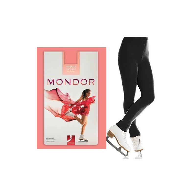 Eiskunstlauf-Strumpfhose ohne Fuß (Mondor 3373 schwarz)