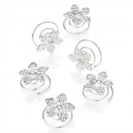 Curlies - Silberne Ballonblumen