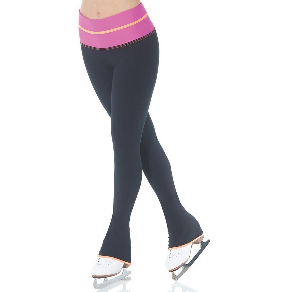 Mondor Leggings für Eiskunstlauf Colour Block schwarz-pink