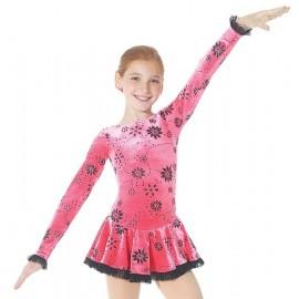 Mondor Eiskunstlaufkleid Geranie rosé schwarz