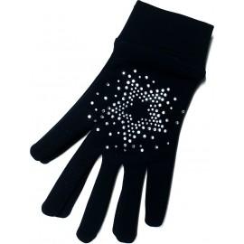 Intermezzo Kinder Handschuhe mit Strasssteinen, schwarz