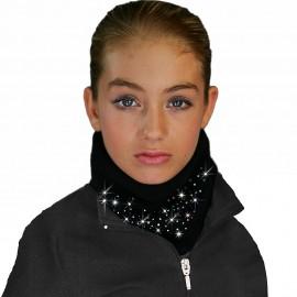 Chloe Noel Rundschal mit Glitzersteinen schwarz