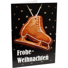 Glückwunschkarte Schlittschuh-Lebkuchen