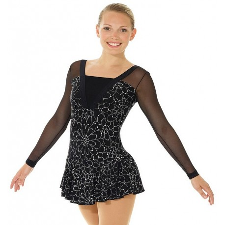 Mondor Fantasy on Ice Kleid Flowers schwarz