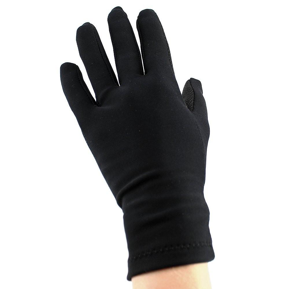 Sagester Thermo Handschuhe mit Swarovski-Steinen, schwarz